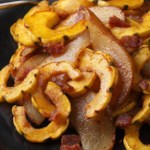 Chili-Brown Sugar Delicata Squash with Pears