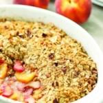 Peach, Rhubarb & Ginger Crisp