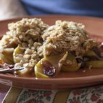 Apple, Pear & Dried Cranberry Crisp