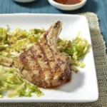 Korean-Spiced Pork Chops & Slaw