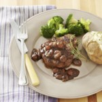 Seared Steak with Pan-Roasted Grape & Port Sauce