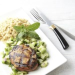Grilled Chicken Thighs with Cucumber-Mint Salad