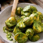 Potatoes with Green Tahini Sauce