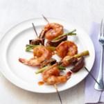 Shrimp Kebabs with Curry-Coconut Glaze