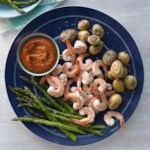 Shrimp, Asparagus & Potatoes with Spanish Romesco Sauce