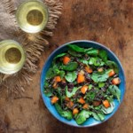 Wild Rice & Baby Kale Salad with Persimmons