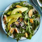 Baby Kale Breakfast Salad with Smoked Trout & Avocado
