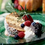 Walnut Cake with a Hint of Rosemary