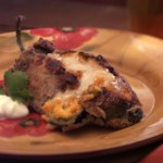 Squash-Stuffed Roasted Poblano Peppers