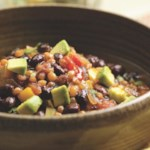 Zesty Wheat Berry-Black Bean Chili