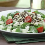Couscous, Lentil & Arugula Salad with Garlic-Dijon Vinaigrette