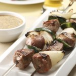 Steak & Potato Kebabs with Creamy Cilantro Sauce for Two