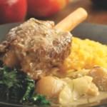 Hard Cider-Braised Lamb Shanks