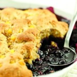 Double Corn-Blueberry Cobbler