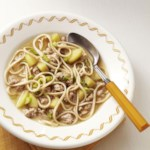 Pork, Apple & Miso Noodle Soup