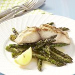 Grilled Mahi-Mahi & Asparagus with Lemon Butter