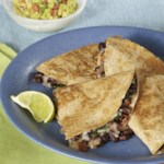 Bacon Chard Quesadillas for Two