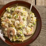 Quick Risotto with Shrimp, Corn & Edamame