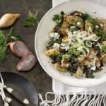 Kale Salad with Bacon-Blue Cheese Vinaigrette
