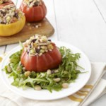 Tuna Salad-Stuffed Tomatoes with Arugula