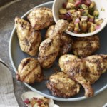 Moroccan-Citrus Chicken with Grilled Peach-Lime Salsa