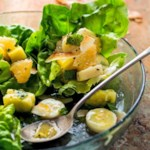 Green Salad with Tropical Fruit