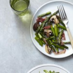 Roasted Asparagus, Mushrooms & Prosciutto