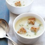 Jerusalem Artichoke-Potato Soup with Crispy Croutons