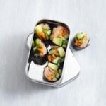 Smoked Salmon Maki Rolls