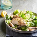 Escarole & White Bean Salad with Swordfish