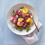 Tangerine & Roasted Beet Salad with Feta & Pistachios