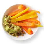 Guacamole with Bell Pepper Dippers