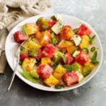Tomato, Watermelon & Avocado Salad