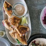 Beet & Goat Cheese Quesadillas with Chile-Lime Crema