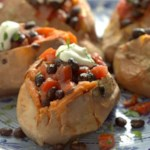 Sweet Potatoes with Warm Black Bean Salad