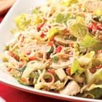 Sesame Chicken Cucumber Noodle Salad