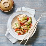 Bell Pepper, Bok Choy & Pork Stir-Fry