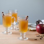 Hot Cider with Apple Brandy & Spices
