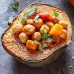 Moroccan Chickpea-Stuffed Acorn Squash