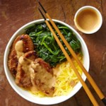 Lemongrass Pork & Spaghetti Squash Noodle Bowl with Peanut Sauce