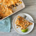 Summer Vegetable Chicken Tortilla Casserole