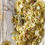 Spaghetti with Halibut & Lemon