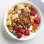 Raspberry Yogurt Cereal Bowl