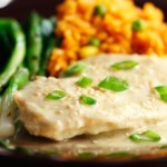 Chicken Breasts with Green Chile-Almond Cream Sauce