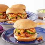Korean Turkey Burgers with Kimchi