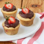 Strawberry Cupcakes with Chocolate Ganache Frosting