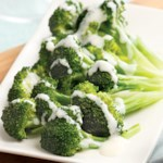 Broccoli with Creamy Parmesan Sauce