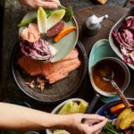 Salmon & Fall Vegetables with Bagna Cauda