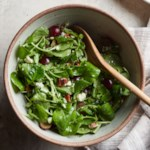 Watercress Salad with Grapes, Blue Cheese & Pecans