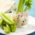 Celery with Confetti Cream Cheese